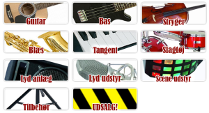 Kæmpe udvalg af musikinstrumenter